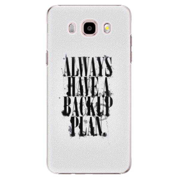 Plastové puzdro iSaprio - Backup Plan - Samsung Galaxy J5 2016
