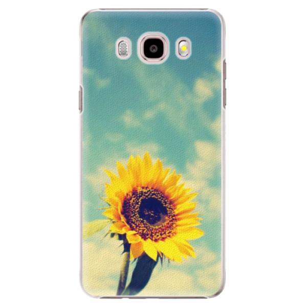 Plastové puzdro iSaprio - Sunflower 01 - Samsung Galaxy J5 2016