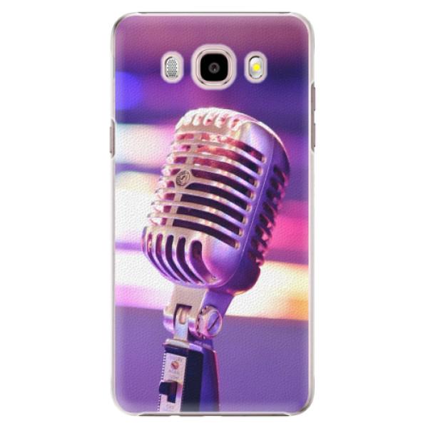 Plastové puzdro iSaprio - Vintage Microphone - Samsung Galaxy J5 2016
