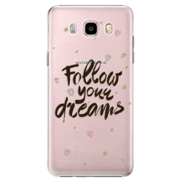 Plastové puzdro iSaprio - Follow Your Dreams - black - Samsung Galaxy J5 2016