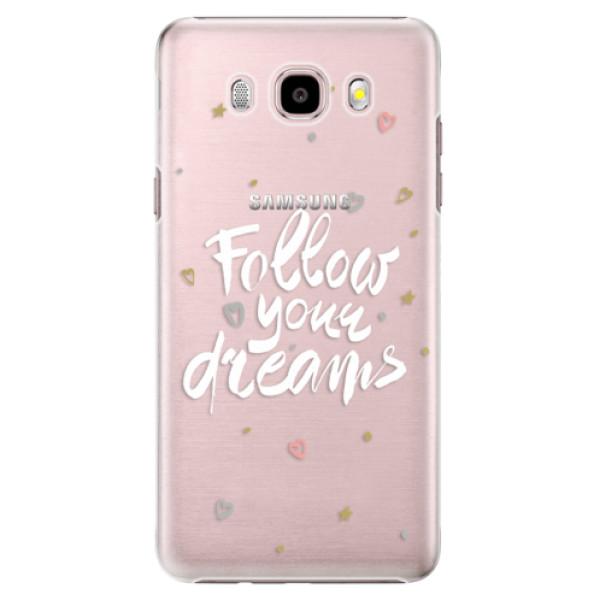 Plastové puzdro iSaprio - Follow Your Dreams - white - Samsung Galaxy J5 2016