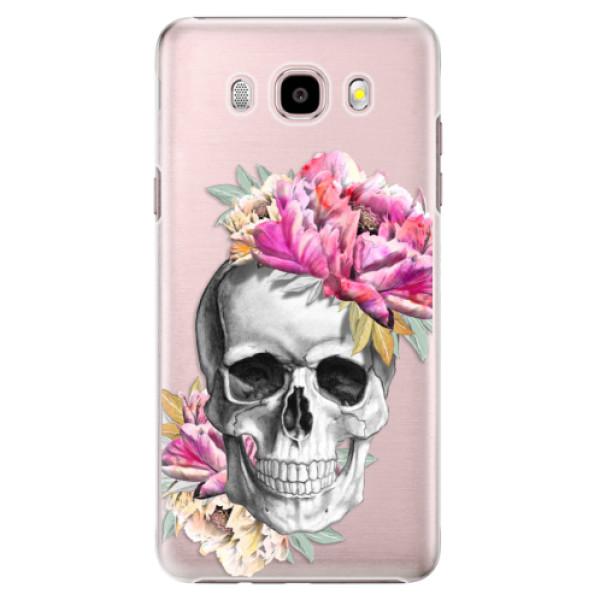 Plastové puzdro iSaprio - Pretty Skull - Samsung Galaxy J5 2016