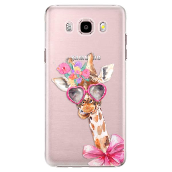 Plastové puzdro iSaprio - Lady Giraffe - Samsung Galaxy J5 2016