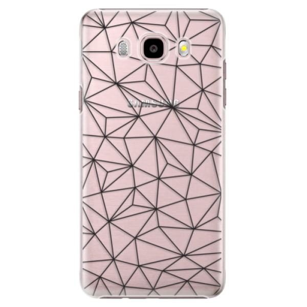 Plastové puzdro iSaprio - Abstract Triangles 03 - black - Samsung Galaxy J5 2016