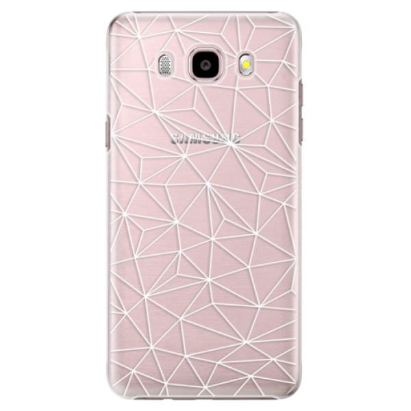 Plastové puzdro iSaprio - Abstract Triangles 03 - white - Samsung Galaxy J5 2016