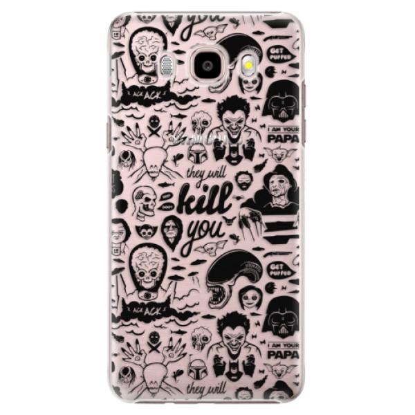 Plastové puzdro iSaprio - Comics 01 - black - Samsung Galaxy J5 2016