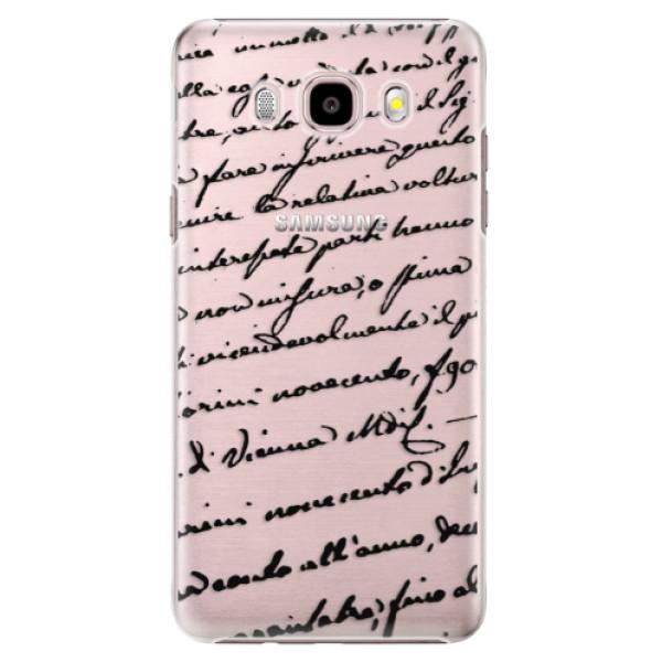 Plastové puzdro iSaprio - Handwriting 01 - black - Samsung Galaxy J5 2016