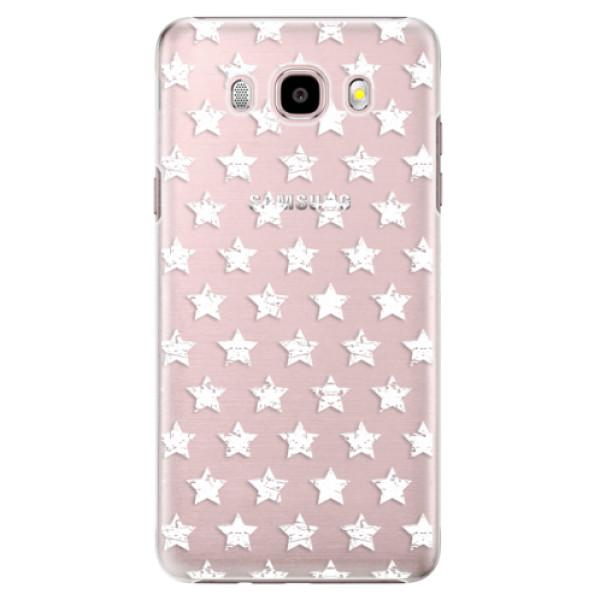 Plastové puzdro iSaprio - Stars Pattern - white - Samsung Galaxy J5 2016