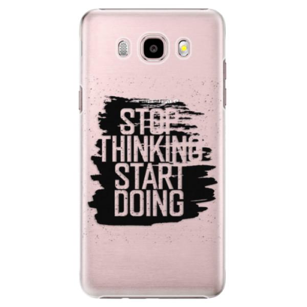 Plastové puzdro iSaprio - Start Doing - black - Samsung Galaxy J5 2016