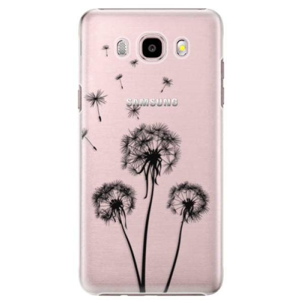 Plastové puzdro iSaprio - Three Dandelions - black - Samsung Galaxy J5 2016