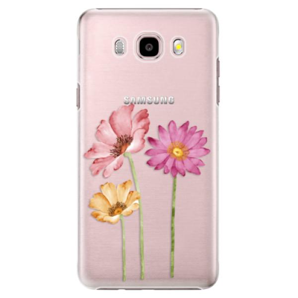 Plastové puzdro iSaprio - Three Flowers - Samsung Galaxy J5 2016
