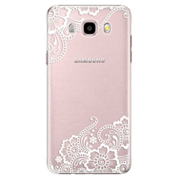 Plastové puzdro iSaprio - White Lace 02 - Samsung Galaxy J5 2016