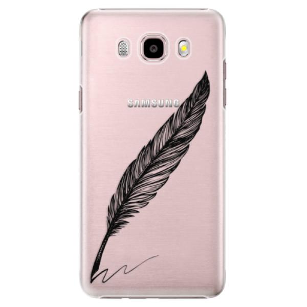 Plastové puzdro iSaprio - Writing By Feather - black - Samsung Galaxy J5 2016