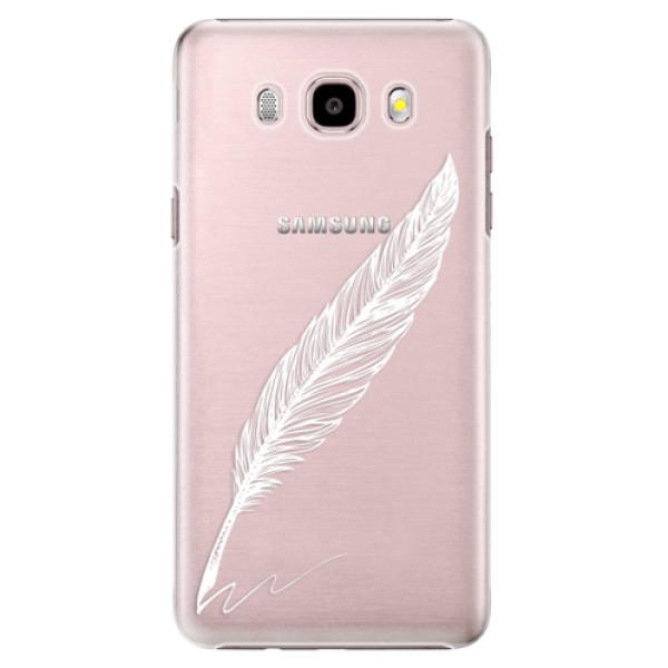 Plastové puzdro iSaprio - Writing By Feather - white - Samsung Galaxy J5 2016