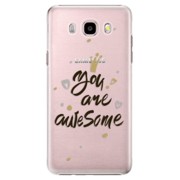 Plastové puzdro iSaprio - You Are Awesome - black - Samsung Galaxy J5 2016