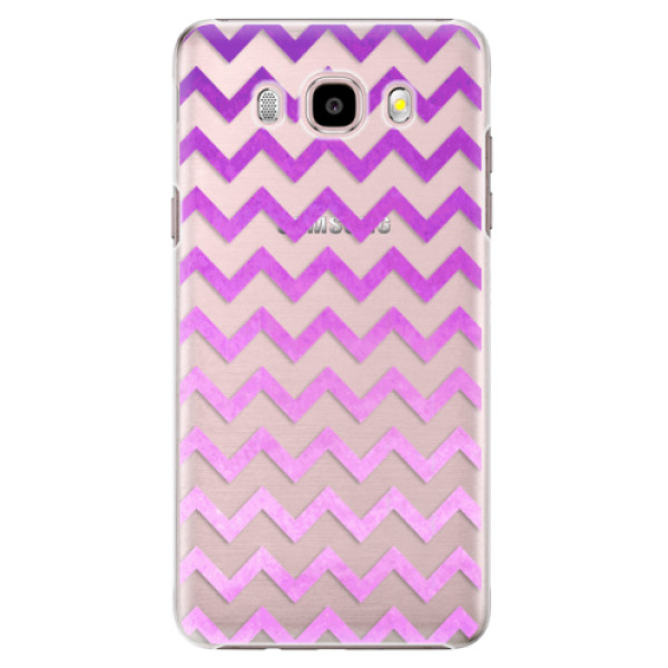 Plastové puzdro iSaprio - Zigzag - purple - Samsung Galaxy J5 2016