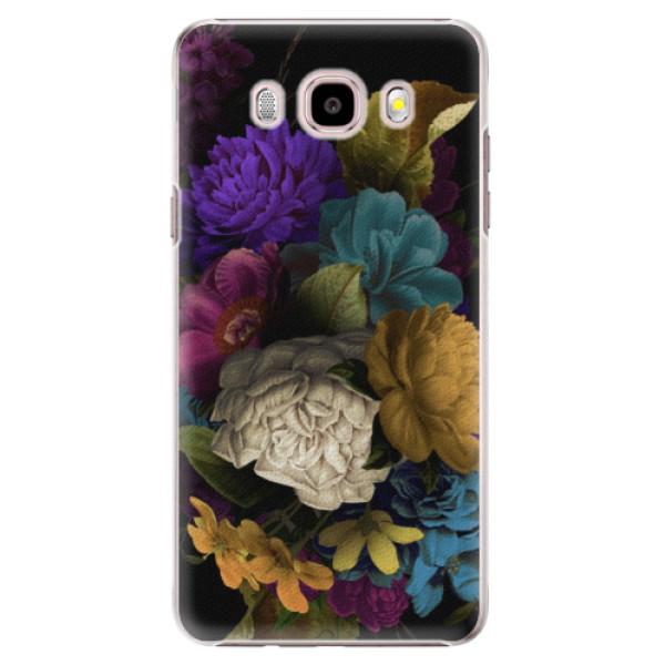 Plastové puzdro iSaprio - Dark Flowers - Samsung Galaxy J5 2016