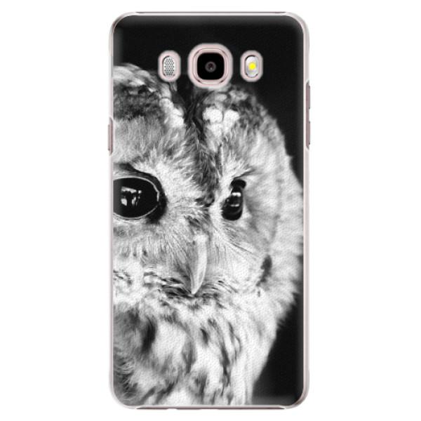 Plastové puzdro iSaprio - BW Owl - Samsung Galaxy J5 2016