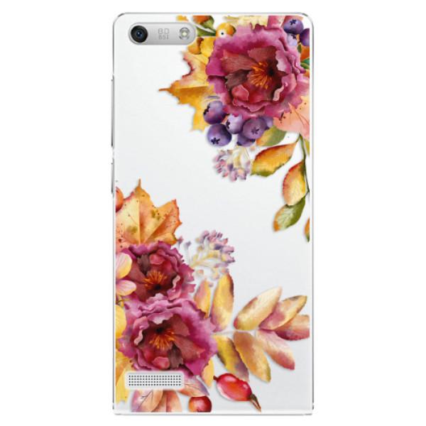 Plastové puzdro iSaprio - Fall Flowers - Huawei Ascend G6