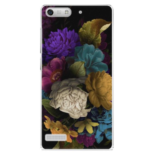 Plastové puzdro iSaprio - Dark Flowers - Huawei Ascend G6