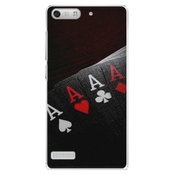 Plastové puzdro iSaprio - Poker - Huawei Ascend G6