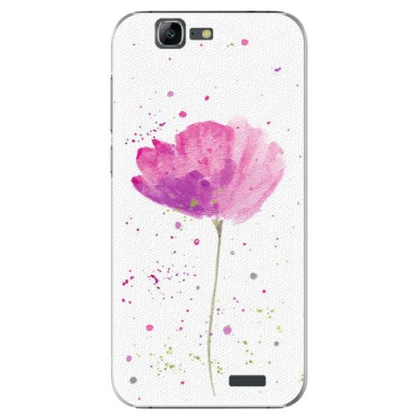 Plastové puzdro iSaprio - Poppies - Huawei Ascend G7