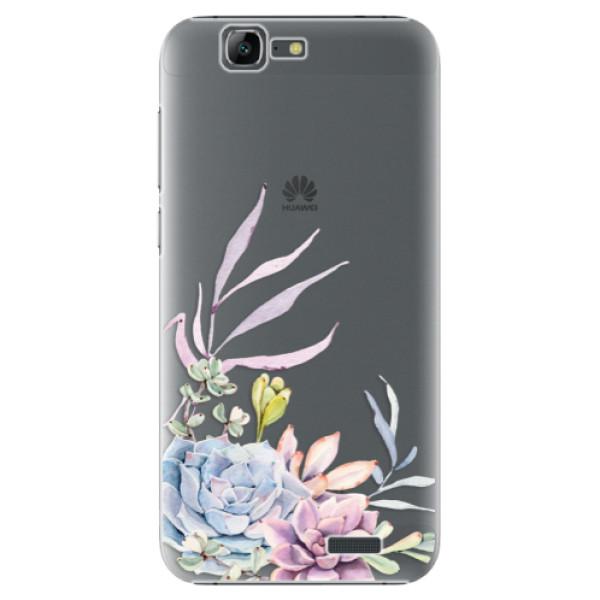 Plastové puzdro iSaprio - Succulent 01 - Huawei Ascend G7