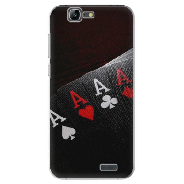Plastové puzdro iSaprio - Poker - Huawei Ascend G7