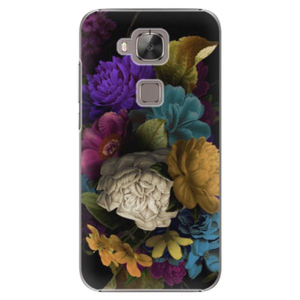 Plastové puzdro iSaprio - Dark Flowers - Huawei Ascend G8