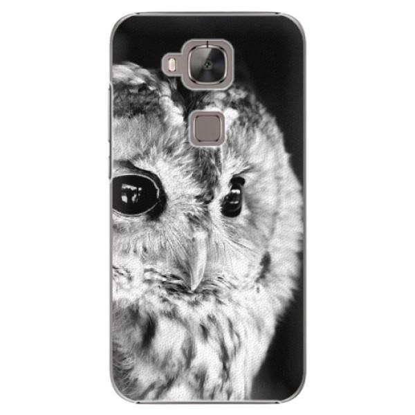 Plastové puzdro iSaprio - BW Owl - Huawei Ascend G8