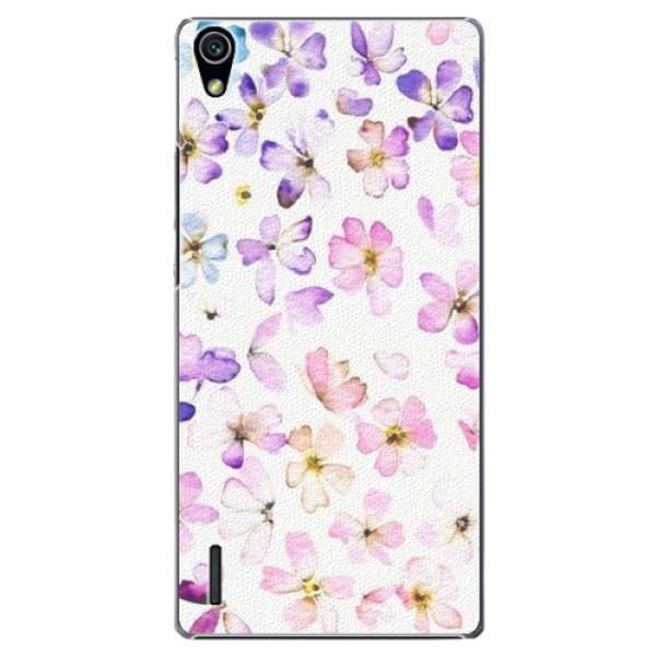 Plastové puzdro iSaprio - Wildflowers - Huawei Ascend P7