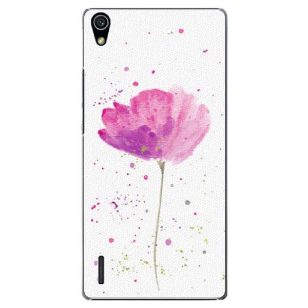 Plastové puzdro iSaprio - Poppies - Huawei Ascend P7