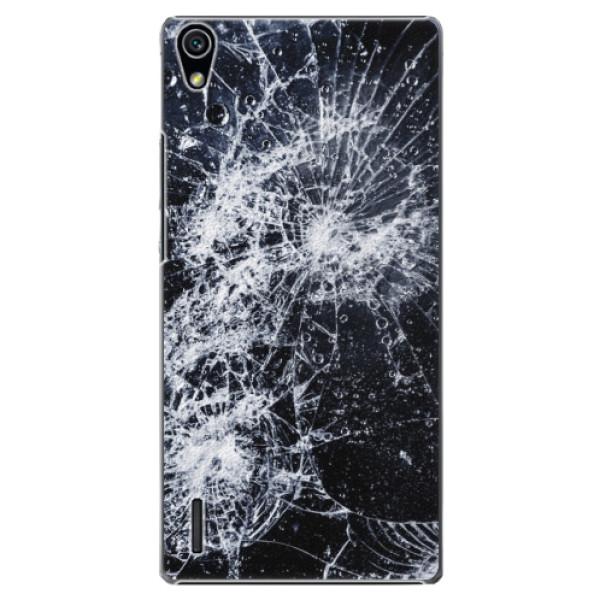 Plastové puzdro iSaprio - Cracked - Huawei Ascend P7