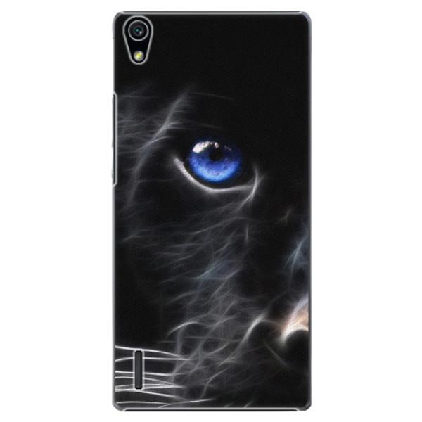 Plastové puzdro iSaprio - Black Puma - Huawei Ascend P7