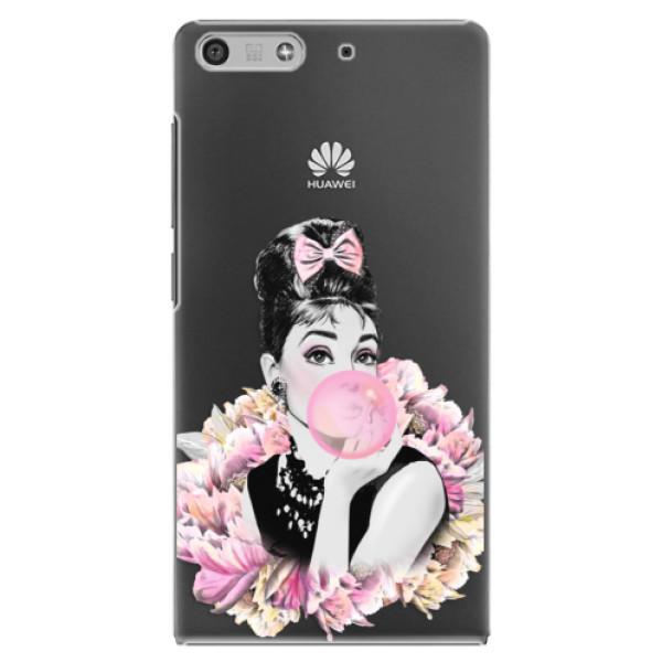 Plastové puzdro iSaprio - Pink Bubble - Huawei Ascend P7 Mini