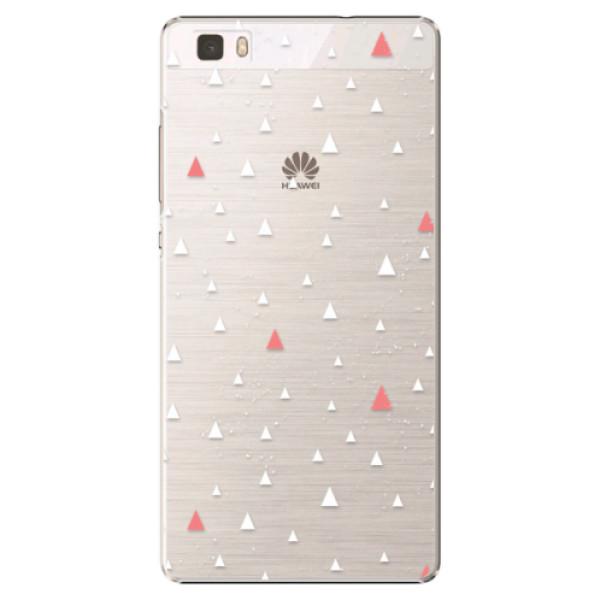 Plastové puzdro iSaprio - Abstract Triangles 02 - white - Huawei Ascend P8 Lite