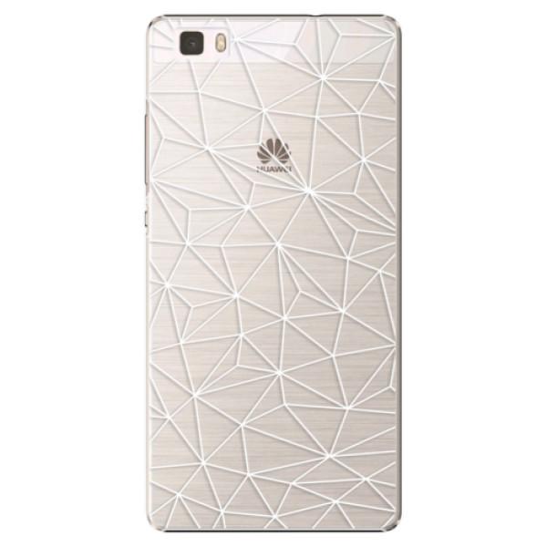 Plastové puzdro iSaprio - Abstract Triangles 03 - white - Huawei Ascend P8 Lite
