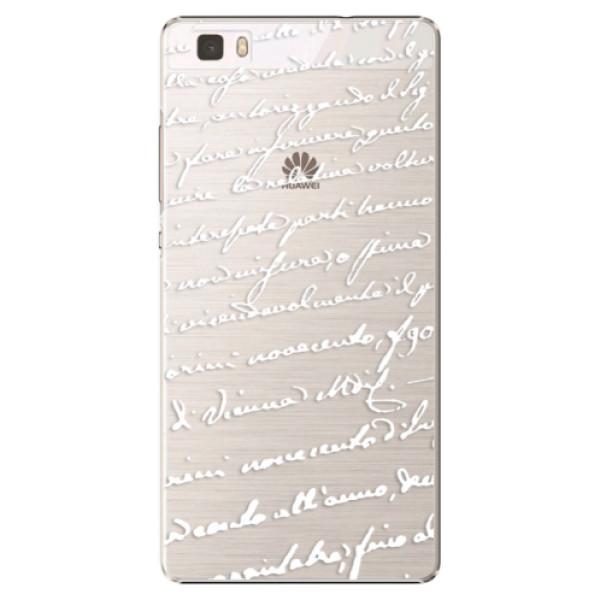 Plastové puzdro iSaprio - Handwriting 01 - white - Huawei Ascend P8 Lite