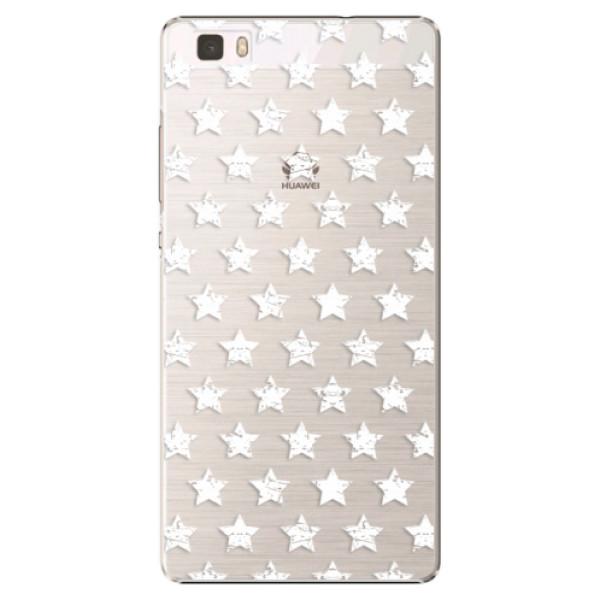 Plastové puzdro iSaprio - Stars Pattern - white - Huawei Ascend P8 Lite