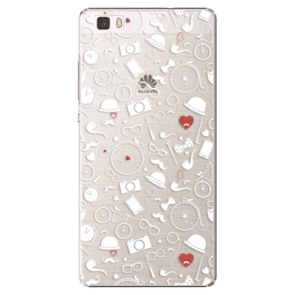 Plastové puzdro iSaprio - Vintage Pattern 01 - white - Huawei Ascend P8 Lite