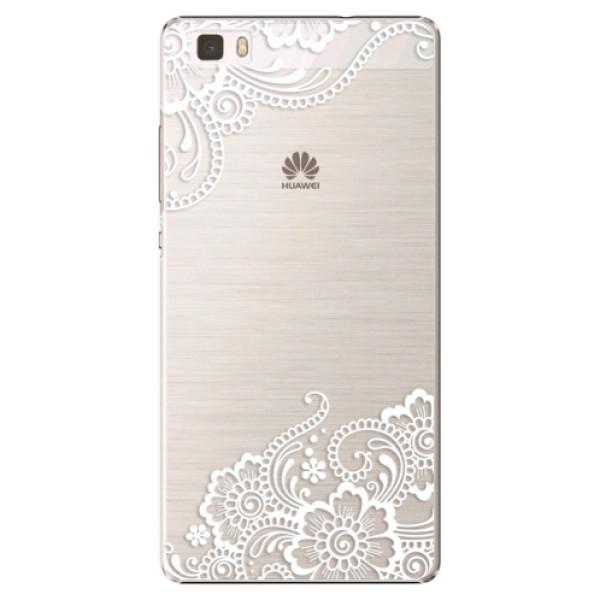 Plastové puzdro iSaprio - White Lace 02 - Huawei Ascend P8 Lite