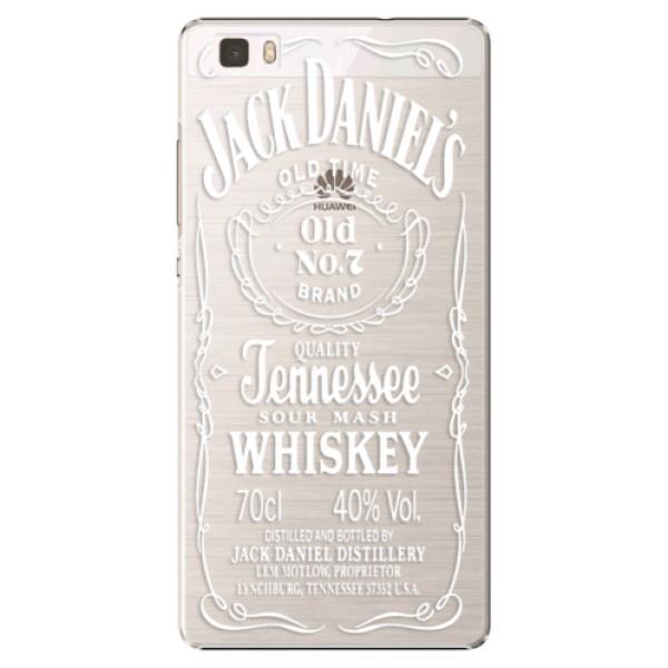 Plastové puzdro iSaprio - Transparent White Jack - Huawei Ascend P8 Lite