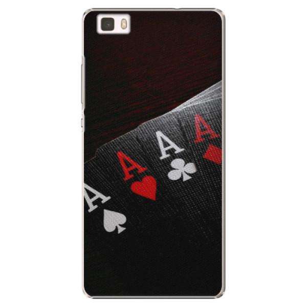 Plastové puzdro iSaprio - Poker - Huawei Ascend P8 Lite