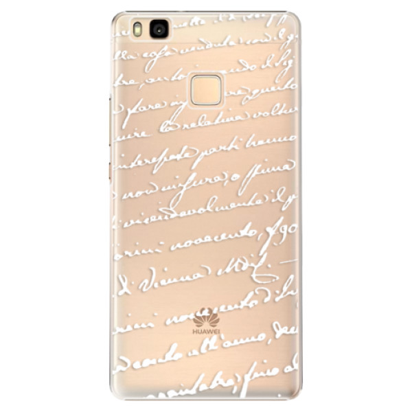 Plastové puzdro iSaprio - Handwriting 01 - white - Huawei Ascend P9 Lite