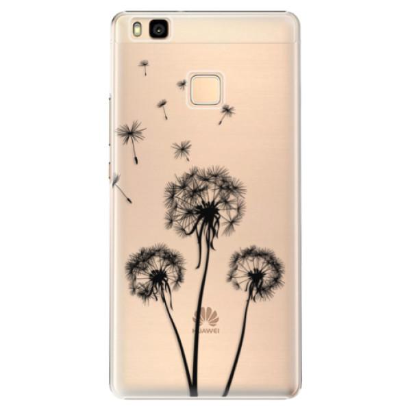 Plastové puzdro iSaprio - Three Dandelions - black - Huawei Ascend P9 Lite