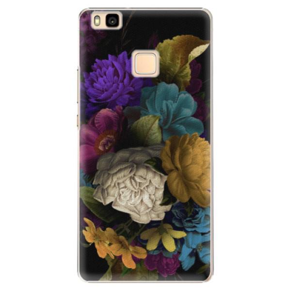Plastové puzdro iSaprio - Dark Flowers - Huawei Ascend P9 Lite