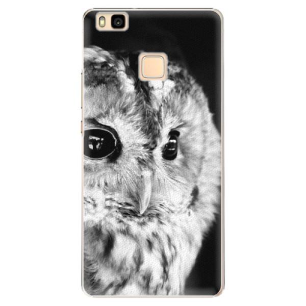 Plastové puzdro iSaprio - BW Owl - Huawei Ascend P9 Lite
