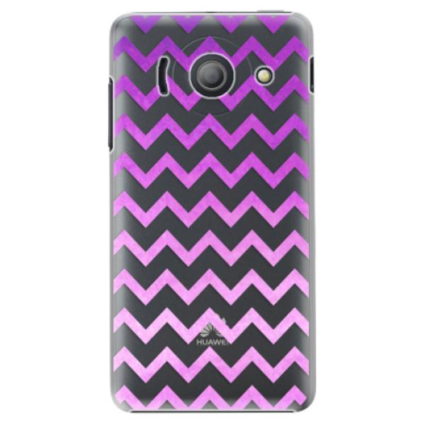 Plastové puzdro iSaprio - Zigzag - purple - Huawei Ascend Y300