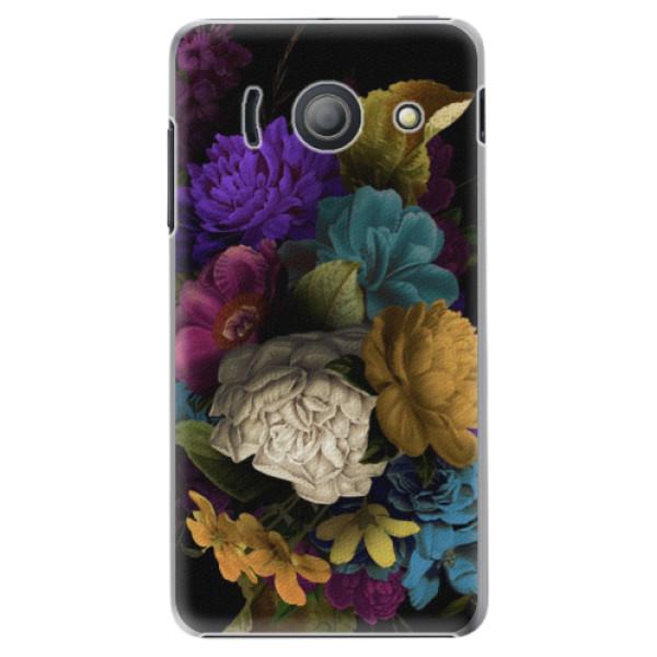 Plastové puzdro iSaprio - Dark Flowers - Huawei Ascend Y300