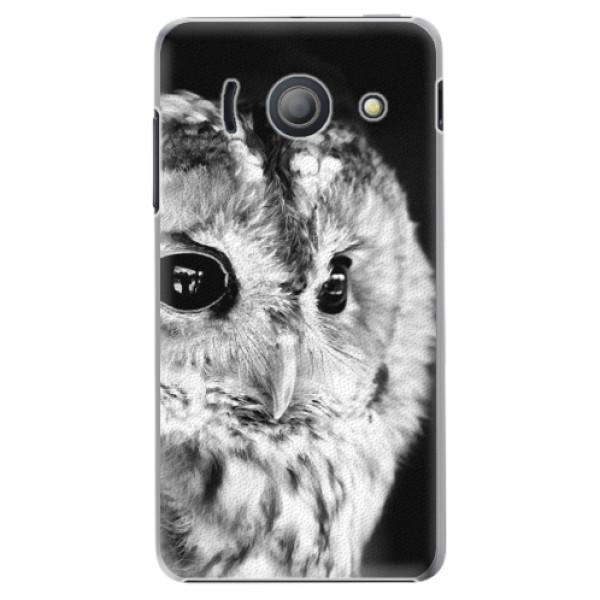 Plastové puzdro iSaprio - BW Owl - Huawei Ascend Y300